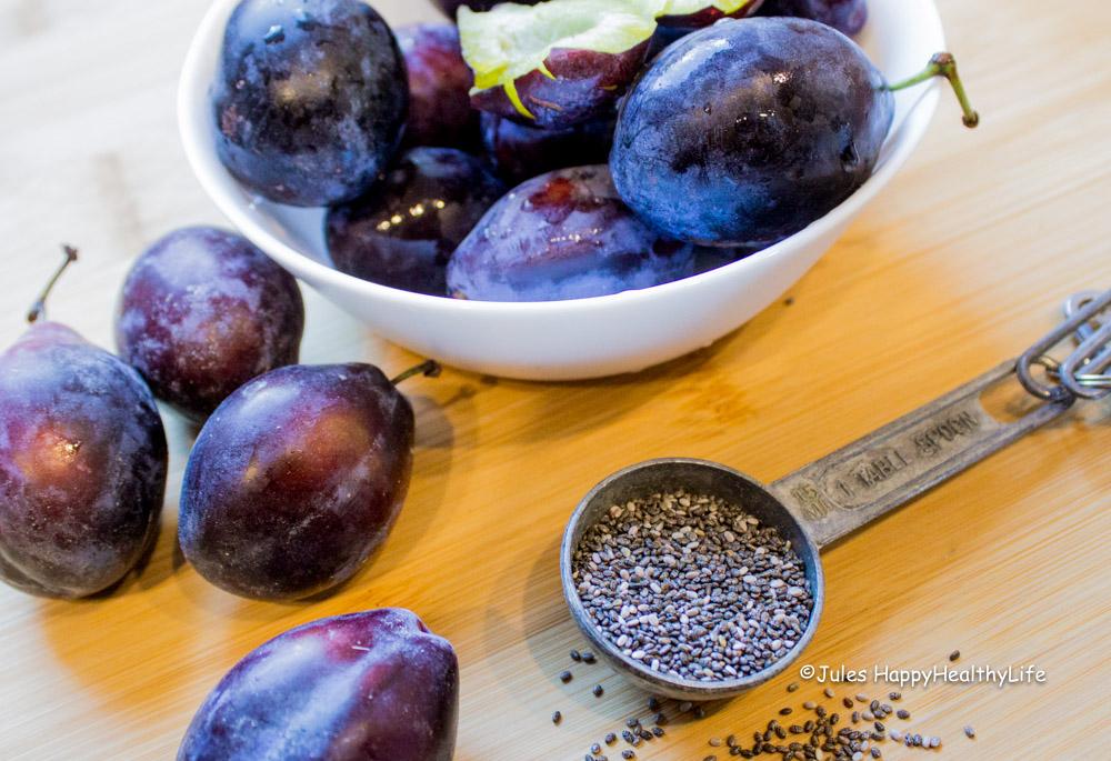 Zutaten für das Rezept der Pflaumen Chiamarmelade