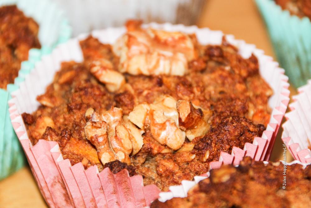 Karotten Apfel Muffins vegan und glutenfrei mit viel Zimt - Jules HappyHealthyLife