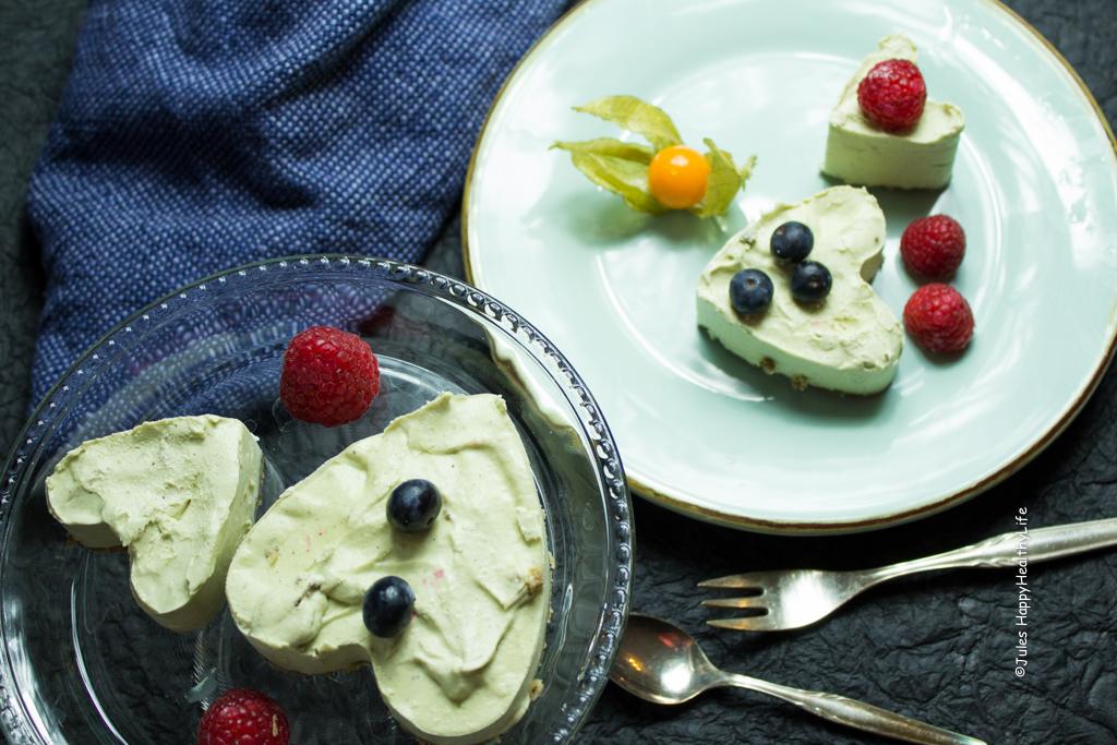 Limetten Cheesecake vegan, glutenfrei - Jules HappyHealthyLife Food Blog