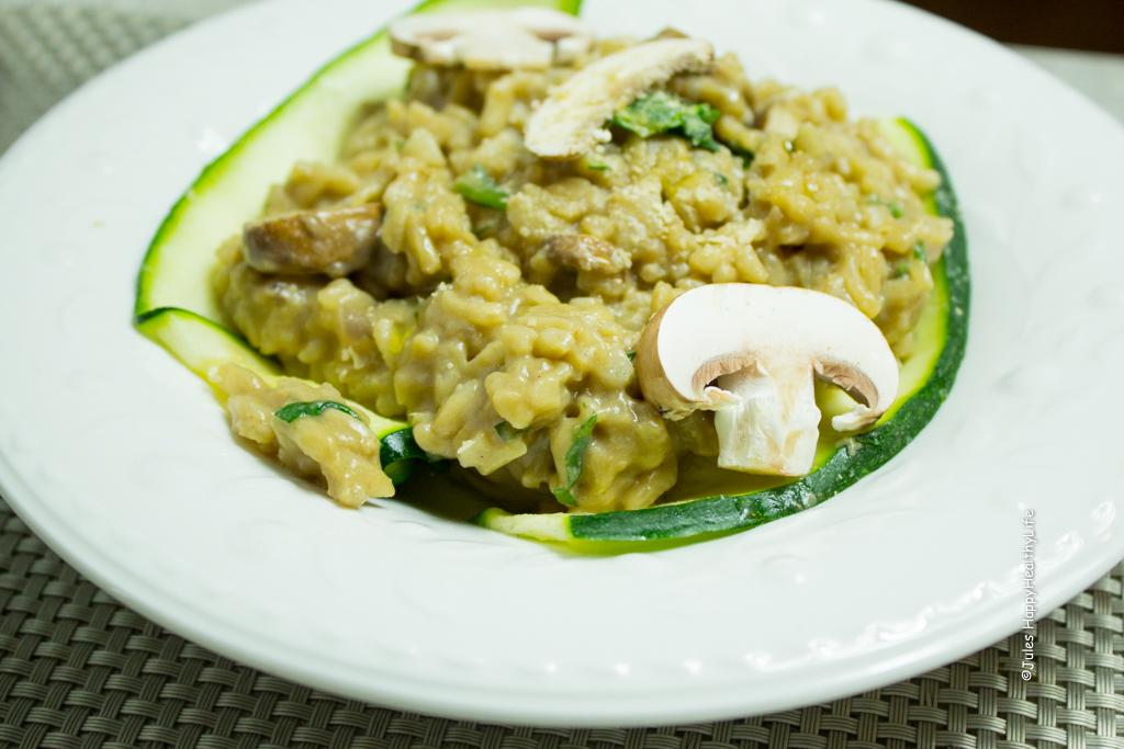 leckeres veganes Pilzrisotto - Einfaches Rezept