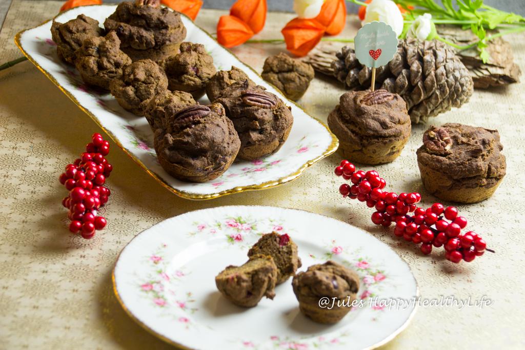 Rezept für Vegane Cranberry Pekan Muffins