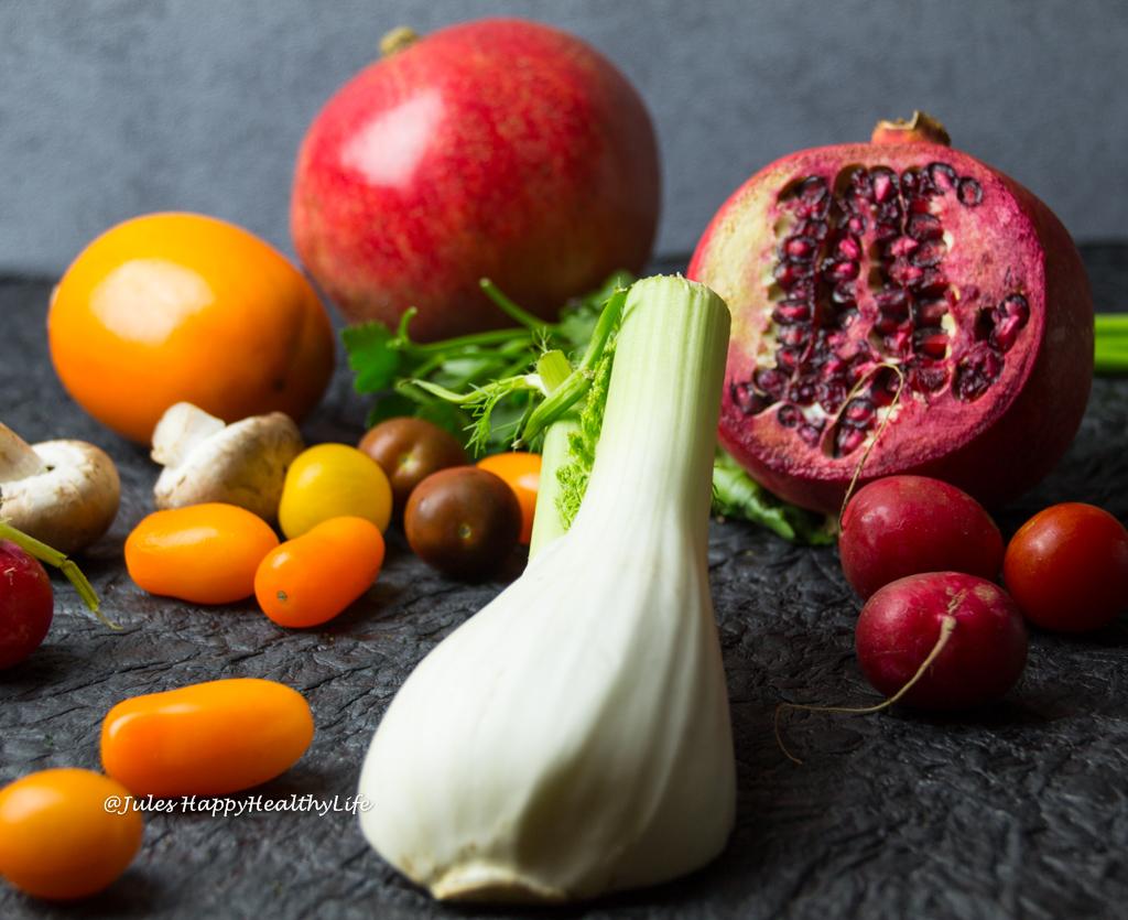 Fennel, Pomegranate, Persimmon Salad gluten-free, vegan