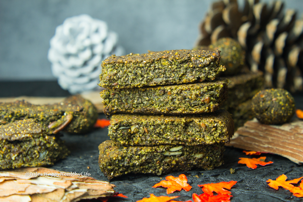 Matcha Sprouted Hemp Bars - Recipe for a vegan snack