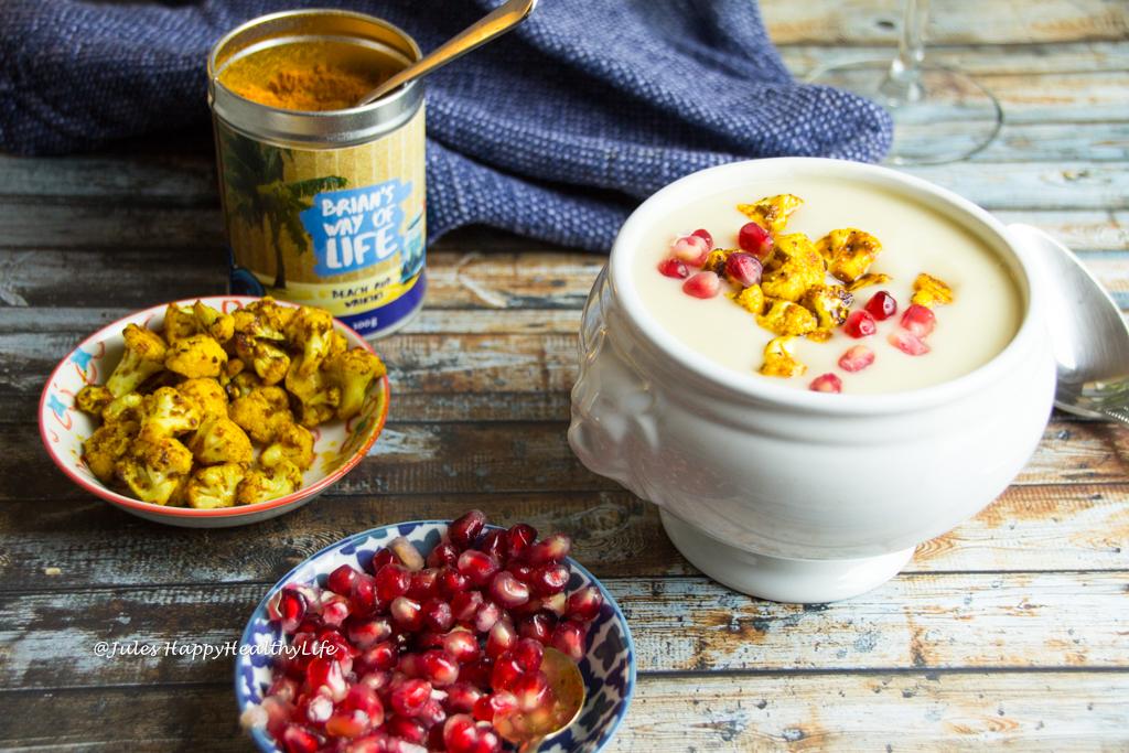 Vegan, gluten free Chauliflower White Wine Soup