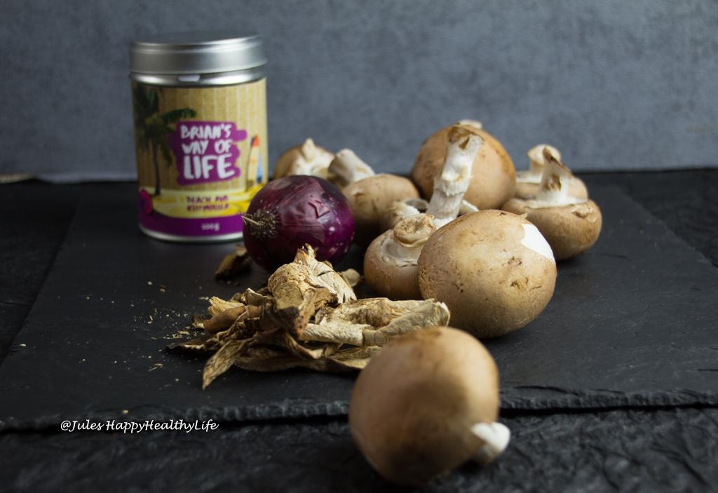 Rauchige Pilzcremesuppe vegan und glutenfrei