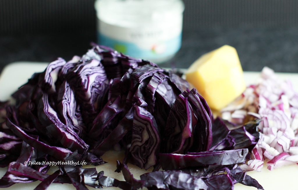 Fresh red cabbage, Granny Smith Apple for Red Cabbage Soup