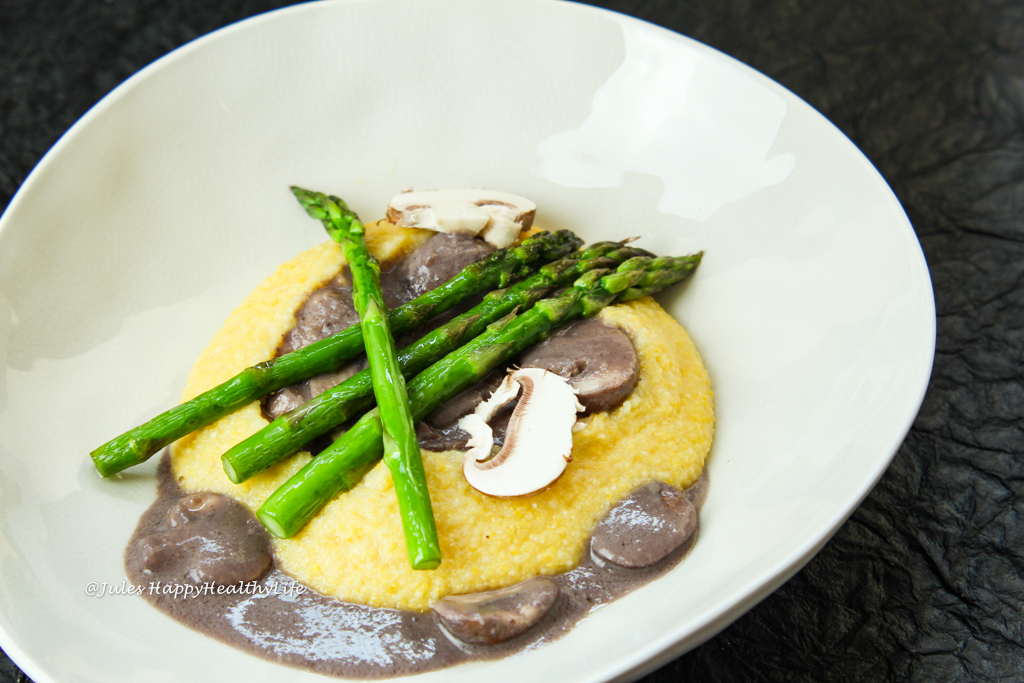 gluten-free main course - vegan Polenta with Creamy Mushrooms