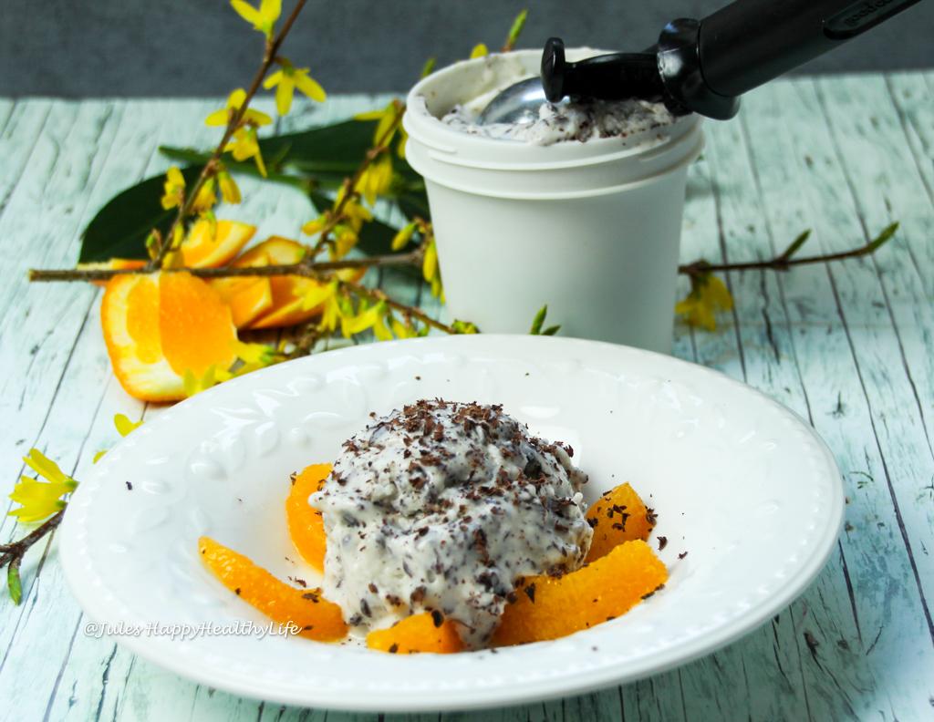 Happiness is vegan Tonka Bean Straciatella Ice Cream