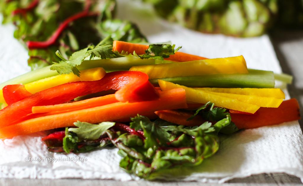 Vegetable filled Chard Warps with Saffron Mango Dip
