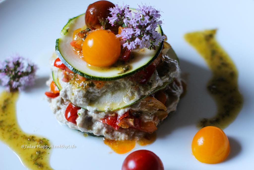 Inspired by Matthew Kenney - Raw Truffled Zucchini Lasagne