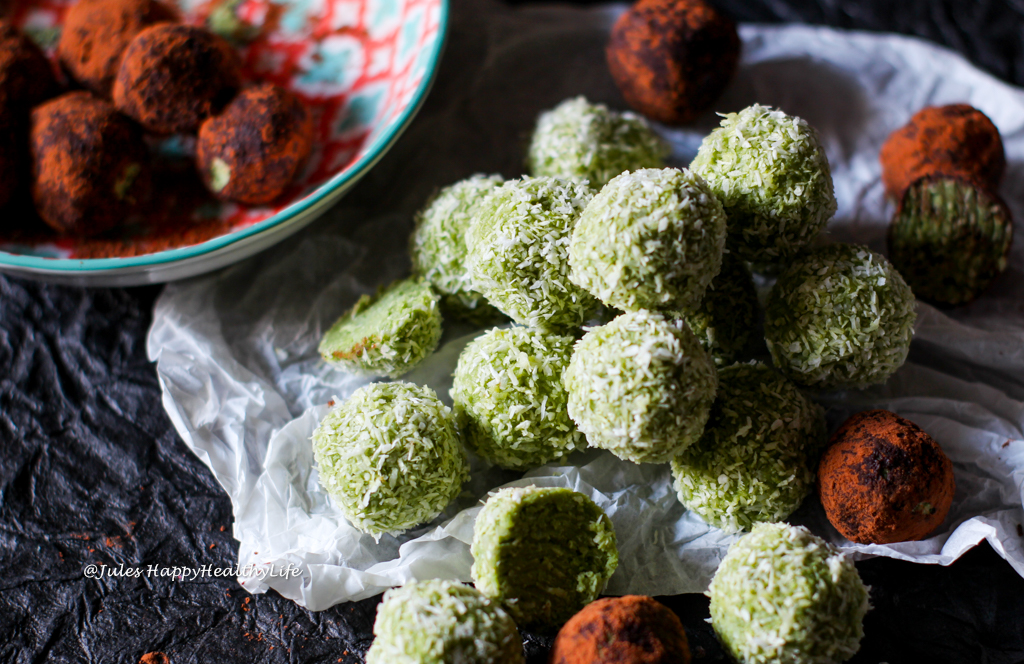 Healthy snack - Coconut Matcha Bliss Balls