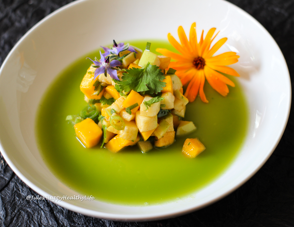 Great vegan dish to impress guests - Vegan Mango Green Apple Tartare with Fennel Stock