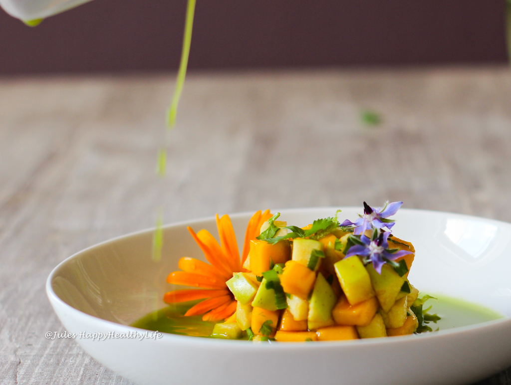 Vegan Recipe for Mango Green Apple Tartare with Fennel Stock