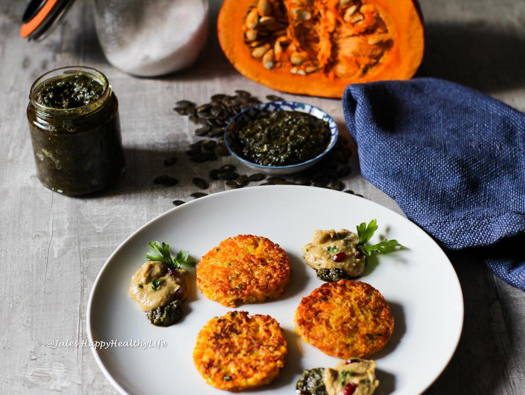 Vegetarian Recipe for gluten-free Pumpkin Potato Fritters