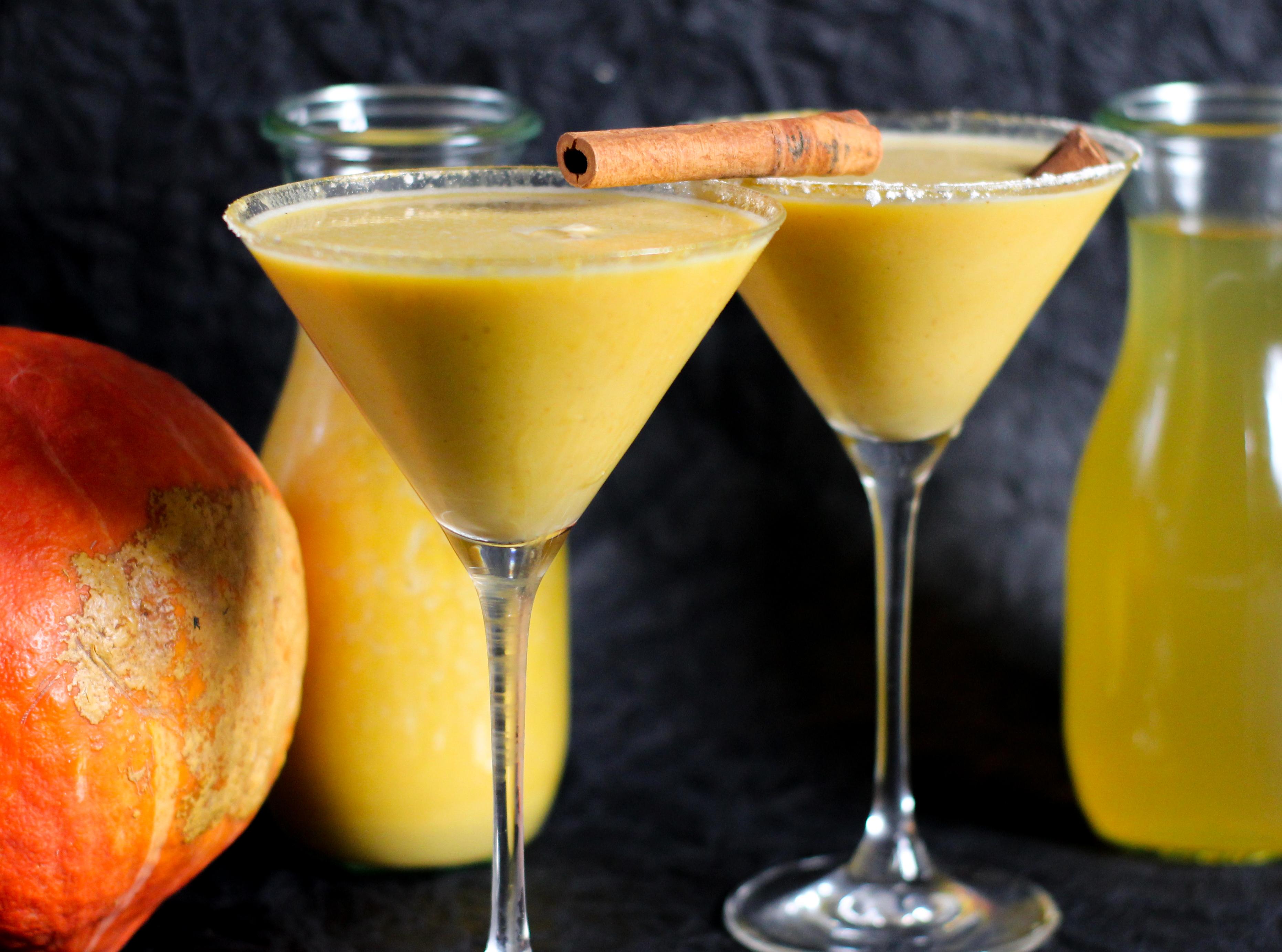 Rezept für Kürbis Vodka und dann einen Kürbis Martini mit dem Kürbis Vodka