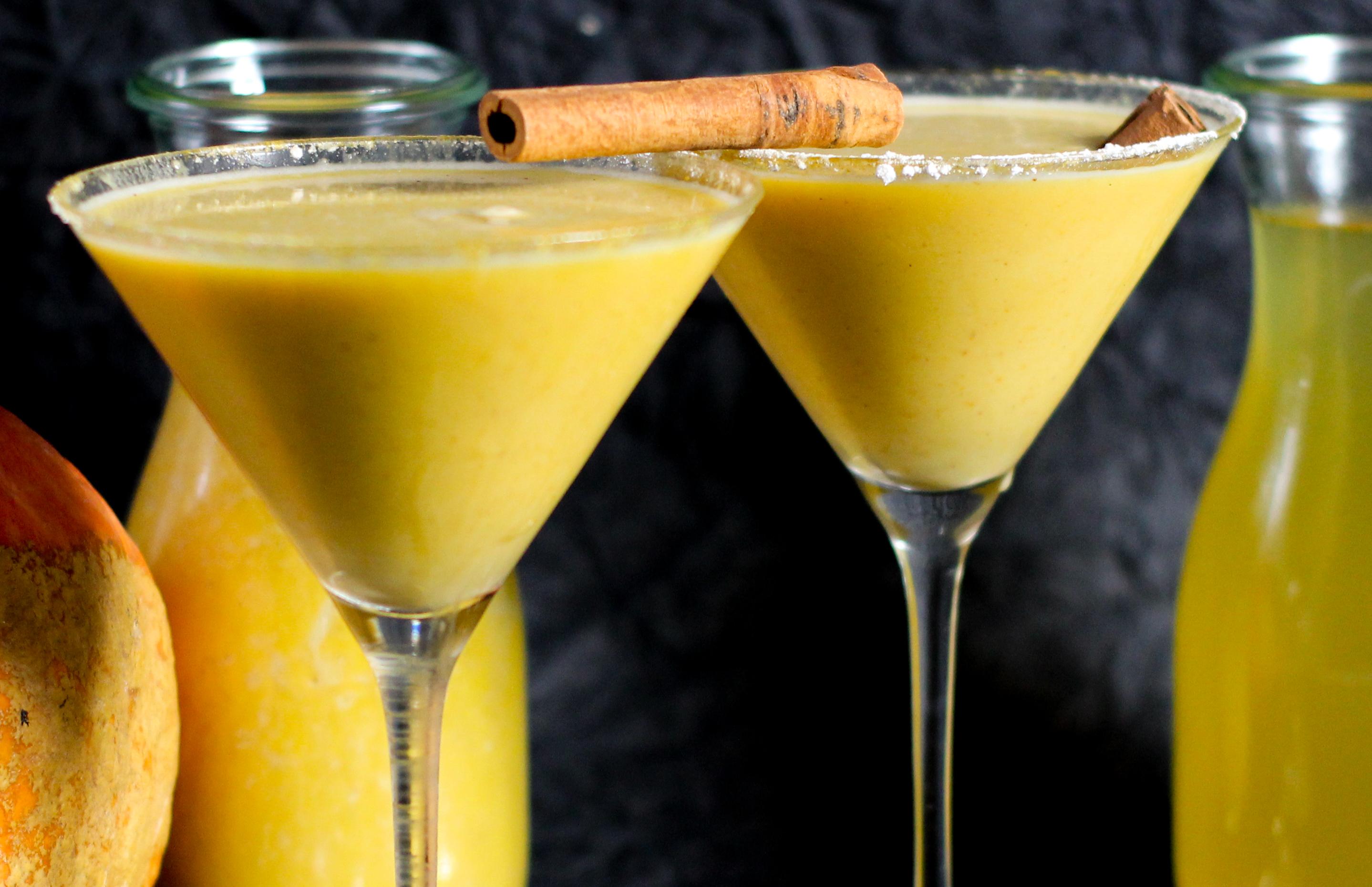 Recipe for Pumpkin Spiced Martini with Pumpkin Spiced Vodka - homemade